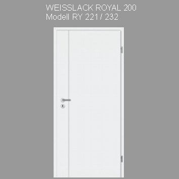 Tuer_Weisslack_royal_200_RY221
