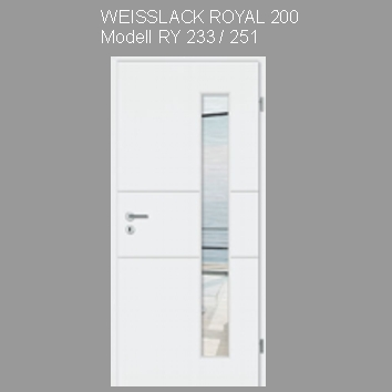 Tuer_Weisslack_royal_200_RY233
